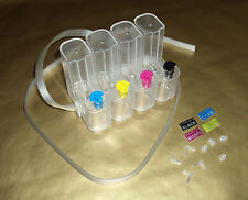 L shaped CISS 4-color 50ml clear tanks with ink tubing, seals and label