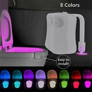 2020 color toilet night light LED motion activated sensor bathroom bowl
