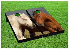Horses Show Love Cornhole Boards Beanbag Toss Game w Bags Stallion Horse S01431