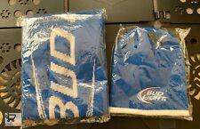 BUD LIGHT BEER Promo Beanie Hat Cap and Scarf - BLUE