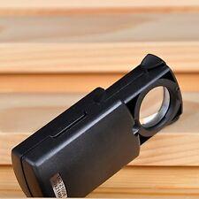 Hotsale 30x21mm LED Fold Eye Jewelry Loupe Magnifier Microscope Glass Lens