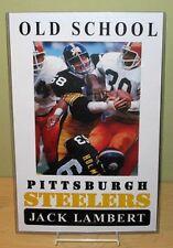 """JACK LAMBERT """"Old School Pittsburgh Steelers"""" Poster"""