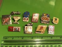 Vintage Metal Enamel Pin Lot Pinback Pins US Soccer Hockey Olympics Olympic