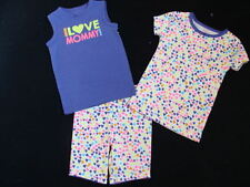 NWT Girls Carter's I Love Mommy Pajamas Size 2 2T Summer Pjs Cotton Sleep Shorts