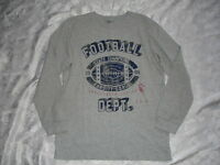 Boys GAP KIDS Grey FOOTBALL Shirt/Top Sz 12 NWT