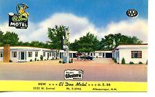 El Don Motel-Rte Highway 66-Albuquerque-New Mexico-Vintage Advertising Postcard