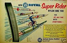 1960 US Royal Super Rider Nylon Bike Tires Bicycle AD