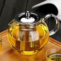 22oz / 43oz Tea Kettle Glass Teapot Tea Maker with movable Infuser Stovetop safe