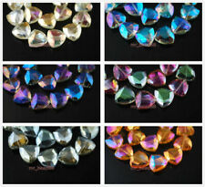 10pcs Colorful Faceted Crystal Charms Regular Triangle Spacer Loose Beads18mm