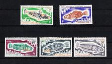 TAAF  FSAT   faune  poissons    num:  34 a 38   neuf **