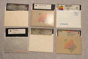 Vintage Apple DOS System Master Apple Writer II IIc IIe  - Floppy 5.25 Disk Lot