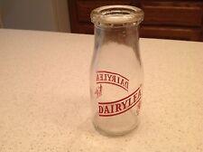 Vintage Antique Half Pint Glass Dairylea Milk Bottle1960's Graphics Advertising