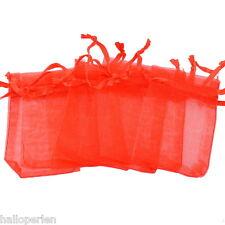 25PCs 5cm x7cm Red Organza Gift Bags Wedding/Christmas Favor