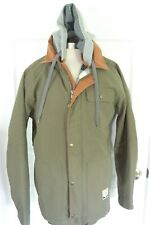 Burton Dryride Ski Snowboarding Jacket OD Green Khaki Sz M Thermolite Hooded