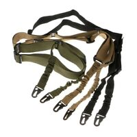 Tactical 2 Point Adjustable Rifle Gun Sling Strap Sling Swivel Hunting Sporting