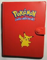 Pokemon Red Pikachu Binder/Folder Card Holder Cute *RARE*