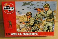 AIRFIX WW2 U.S. PARATROOPS 1:72 SCALE (25mm) MODEL SOLDIERS UNPAINTED PLASTIC