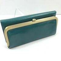 Hobo International Rachel Bluegrass Green Leather Trifold Clutch Wallet NWT