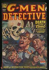 G-MEN DETECTIVE Winter 1944 Pulp Magazine RUDOLPH BELARSKI Nazi Skull Cover G