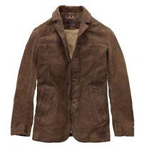 $698 Timberland Cocoa Bayview Leather Blazer Jacket Coat Men's Size Large