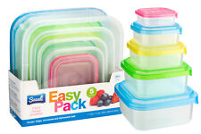 PREMIUM Stackable Nestable Food Storage Containers Colour Lid Plastic Tupperware