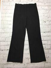 Womens ROCCA Black Pinstripe Thin Wide Straight Leg Trousers Size 14