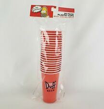 The Simpsons Duff Logo Red Disposable 18oz Plastic Party Cups | 20 Count | New