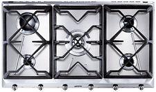 SMEG SRV596GH5 CUCINA 90cm Stainless Steel 5 Burner Gas Hob