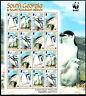 Süd Georgien 2008 Mi. 454-57 Bogen 4 Satz ** MNH WWF Pinguin