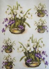 Rice Paper for Decoupage Scrapbook Crafting Spring Flowers 566