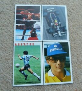 Question Of Sport Game Cards Mike Tyson Senna and Maradona