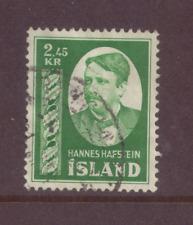Iceland, Hannes Hafstein, 2.45 krona dark green, F/U, 1954
