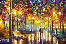 1000 piece Romantic Walking In The Rain Paper Jigsaw Puzzle Intelligence Toys