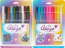 Sakura Gelly Roll Glaze Glossy 3D Gel Ink Pens - Basic & Bright Colors - 20 Pens