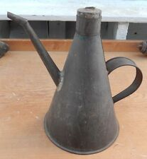 Antique 19th C Hand Soldered Tall TIN Oil Lamp Filler Unusual Stopper - $10 OFF!