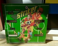 GLACE PLAQUE DE FLIPPER VINTAGE  STRIKER / SOCCER FOOTBALL  / GOTTLIEB 1982
