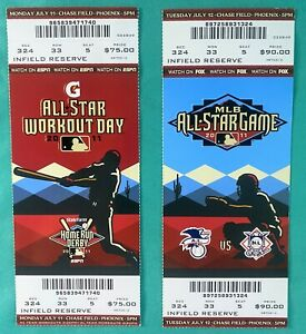 2011 MLB Baseball All-Star Game Full Ticket + Home Run Derby Phoenix Mike Trout