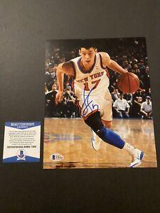 Jeremy Lin Signed 8x10 Photo Auto New York Knicks Autograph NBA BECKETT BAS COA