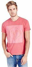 True Religion Men's Puff Buddha Tee T-Shirt in Ruby (2XL, 3XL)