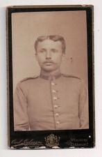 Vintage CDV German Soldier Military Uniform Carl Galvagni Photo Wurtzburg