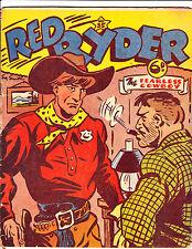 "Red Ryder No 35 1950's  Australian-""Man Smoking Cigar Cover!  """