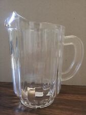 PLASTIC PITCHERS 60 oz  CLEAR BAR STYLE POLY CARBON HARD BEER/BEVERAGE(ONE EACH)