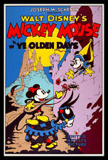 Mickey Mouse FRIDGE MAGNET Movies Poster Ye Old Days 6x8 Magnetic CANVAS Print