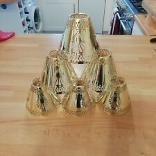 CHANDELIER SHADES CLIP ON GOLD METAL UNUSUAL