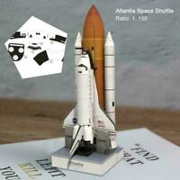 1:150 Scale 34cm Space Shuttle Atlantis 3D Puzzle Paper Gift DIY Model Q8X4 E1K9