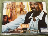 SNOOP DOGG SIGNS RARE 4 TRACK IMPORT CD SINGLE FREE SHIPPING
