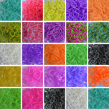 600pcs Loom Bands Rubber Band Making Kit 24 S-Clips Tool Bracelet Jewellery
