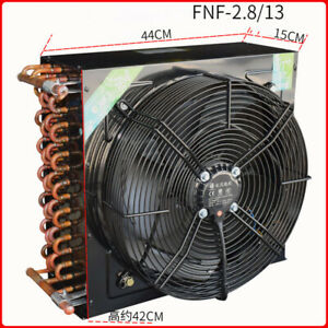 FNA2.8/13 2HP 13m² condenser + 350MM 380V fan 120W copper tube aluminum radiator