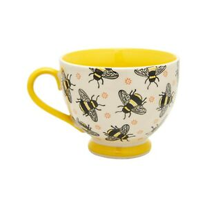 Busy Bee Stamped Mug, Sass & Belle, Fun Yellow Bee Printed Cup