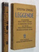 1937 STEFAN ZWEIG LEGGENDE SPERLING & KUPFER LETTERATURA RELIGIONI SC66